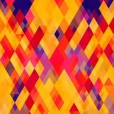 Farbhintergrund mit Dreiecken Stockbild