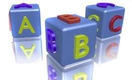 Farbige ABC-Blöcke lizenzfreie abbildung