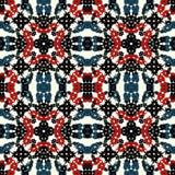Farbige abstrakte Gegenstände auf einem nahtlosen Muster des hellen Hintergrundes Lizenzfreie Stockfotos