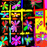 Farbige abstrakte Mustergraffiti Stockfoto