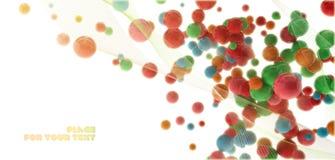 Farbige Abstraktion der Kugel 3d Stockbilder