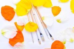 Farbige Abstraktion von Bürsten für das Zeichnen Lizenzfreie Stockfotos