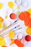 Farbige Abstraktion von Bürsten für das Zeichnen Lizenzfreies Stockfoto