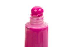 farbige Acrylfarbe in einem Rohr lokalisiert Lizenzfreie Stockfotos