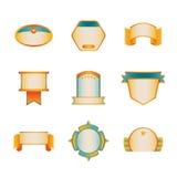 Farbige Ausweis-Schablonen-Reihe 4 von 5 Stockbild