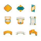Farbige Ausweis-Schablonen-Reihe 5 von 5 Lizenzfreies Stockbild