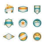 Farbige Ausweis-Schablonen-Reihe 3 von 5 Lizenzfreies Stockbild
