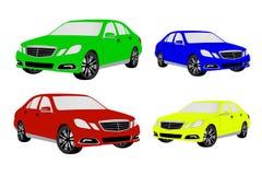 Farbige Autos Lizenzfreie Stockfotos