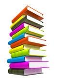 Farbige Bücher massiv lizenzfreies stockbild