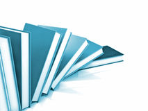 Farbige Bücher massiv lizenzfreie stockfotografie