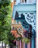 Farbige Balkone Lizenzfreie Stockfotos