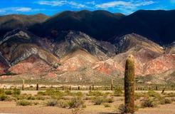 Farbige Berge Stockfotos
