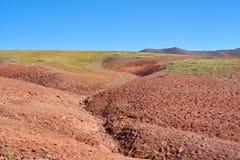 Farbige Berge in Kichik-Alai-Tal Stockbild