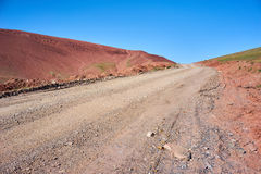 Farbige Berge in Kichik-Alai-Tal Stockbilder