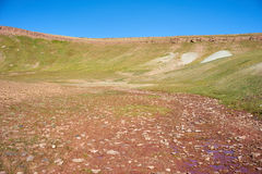 Farbige Berge in Kichik-Alai-Tal Stockfoto