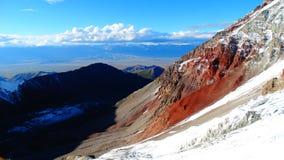 Farbige Berge Rot Pamir Stockbilder