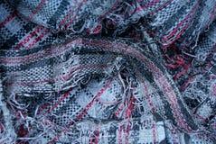 Farbige Beschaffenheit eines Stückes der heftigen schmutzigen Tasche mit einem Muster Stockfotos