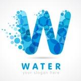 Farbige Blasen und Tropfen w-Logos Blau Lizenzfreies Stockfoto