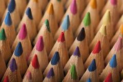 Farbige Bleistift-Welle Lizenzfreie Stockfotos