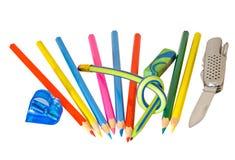 Farbige Bleistifte 1 Stockfotos