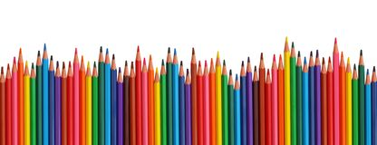 Farbige Bleistifte Lizenzfreie Stockfotos
