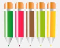 Farbige Bleistifte Vektor Abbildung