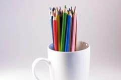 Farbige Bleistifte in einem Kreis Lizenzfreies Stockbild