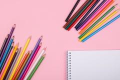 Farbige Bleistifte eingestellt Stockfoto
