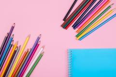 Farbige Bleistifte eingestellt Lizenzfreies Stockfoto
