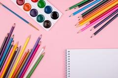 Farbige Bleistifte eingestellt Lizenzfreie Stockfotografie