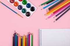 Farbige Bleistifte eingestellt Lizenzfreie Stockbilder