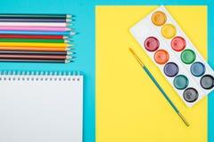 Farbige Bleistifte eingestellt Stockbild