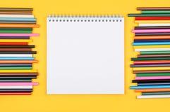 Farbige Bleistifte eingestellt Lizenzfreie Stockfotos