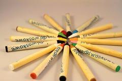 Farbige Bleistifte für das Zeichnen Stockfotografie