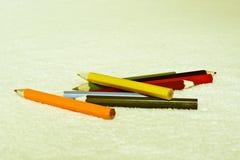 Farbige Bleistifte für das Zeichnen Stockbild