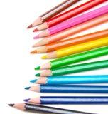 Farbige Bleistifte für Schule Stockfotografie