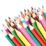 Farbige Bleistifte getrennt Stockfotos