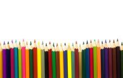 Farbige Bleistifte getrennt auf weißem Hintergrund Stockbilder