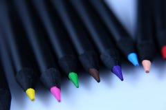 Farbige Bleistifte, Großaufnahme Lizenzfreies Stockbild