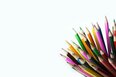 Farbige Bleistifte im Becher! Stockbilder