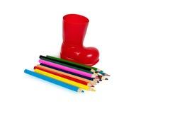 Farbige Bleistifte, lokalisiert Lizenzfreie Stockfotografie