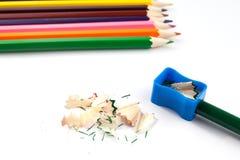 Farbige Bleistifte lokalisiert Stockfotos