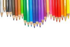 Farbige Bleistifte, lokalisiert auf dem weißen Hintergrund Lizenzfreie Stockbilder