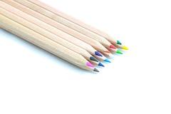 Farbige Bleistifte lokalisiert auf Weiß Lizenzfreies Stockfoto