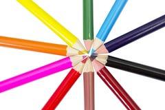 Farbige Bleistifte lokalisiert auf Weiß Lizenzfreies Stockbild