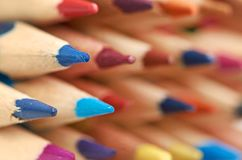 Farbige Bleistifte Makro Lizenzfreie Stockfotografie