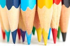 Farbige Bleistifte Makro Stockfoto