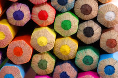 Farbige Bleistifte Makro Stockfotografie