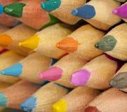 Farbige Bleistifte Makro Lizenzfreies Stockfoto