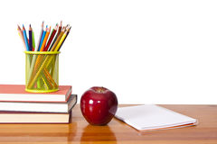 Farbige Bleistifte mit Weiß Lizenzfreie Stockfotografie